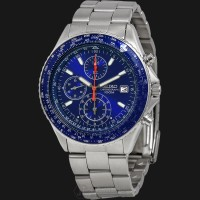 Seiko Chronograph Fligth Master Pilot SND255P1 Blue Dial Stainless Ste