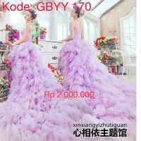 wedding gown purple baju pengantin berekor gaun pengantin murah