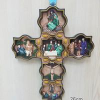 Jual PATUNG PAJANGAN SALIB DINDING KELAHIRAN TUHAN YESUS MURID JESUS Murah