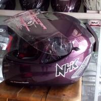 harga Helm NHK Terminator Purple Glossy Violet Solid Fullface Visor Tokopedia.com