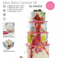 Tupperware Miss Belle Canister (4 pcs), Toples Miss Belle Cantik