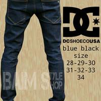 celana jeans panjang,celana pria,skiny,slimfit,pensil,dc blue black