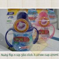 Nuby Flip It Twin Handle Straw Cup 270ml