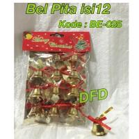 Aksesoris Natal / Ornamen Natal / ( Bel Pita Isi 12 ) Lonceng Natal