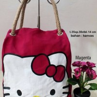 Kios online jual tote remaja Hello Kitty pink lucu imut harga murah