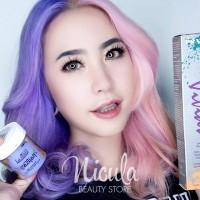 Lilac & Pastel Pink Split Hair Tutorial Dengan Directions & Pravana