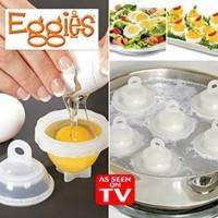Eggies As Seen On TV Alat Cetakan Telur Rebus Cetak Pemecah Telur Egg