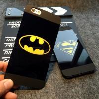 LUXURY BATMAN SUPERMAN MATTE&MIRROR HARDCASE FOR IPHONE 5 5S SE