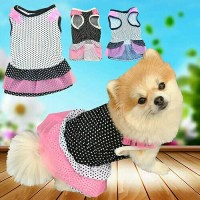 baju anjing kucing model dress polkadot