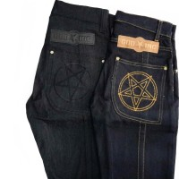 BLACK JEANS SELVAGE DENIM PENTAGRAM