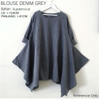 BLOUSE DENIM GREY