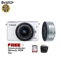 harga Canon Eos M10 15-45 + 22mm STM Tokopedia.com