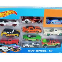 Mainan Mobil Die Cast Hotwheels/Hotwheel Racing Car Isi 10 pcs