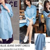 Jual Light Blue Jeans Shirt Dress Murah