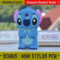 Xiaomi Redmi Note 1 STITCH 3D Cute Soft Case Casing Karakter silicone