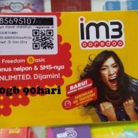 harga kartu perdana indosat 10gb 90 hr kuota data internet im 3 3gb + 3 gb + Tokopedia.com