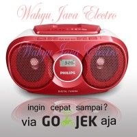 PHILIPS AZ215 Audio Player CD / FM RADIO Speaker - Merah