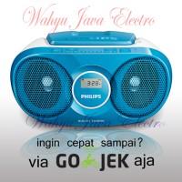 PHILIPS AZ215 Audio Player CD / FM RADIO Speaker - Biru