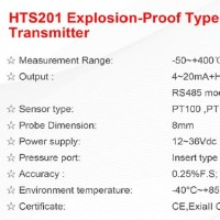Explosion Proof Temperature Transmitter HTS201