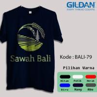 Kaos Gildan Softstyle - Panorama alam, Sawah bali