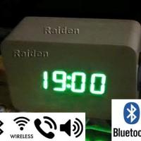 harga Bluetooth Speaker Active Jam Kayu Meja Led Telepon Murah Baru Amplifie Tokopedia.com
