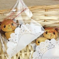 Plastik Fancy Cookies - Kue - Permen - Accessories Handmade Bow 7x7
