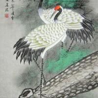 Repro Gambar Lukisan Burung Cranes Pelikan Pretty Painting Beautiful