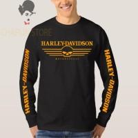 harga Tshirt / Kaos / Baju Harley Davidson Lengan Panjang - Hitam Tokopedia.com