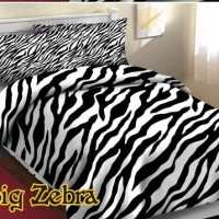 Bed Cover + Sprei Set Motif Big Zebra - Single Size