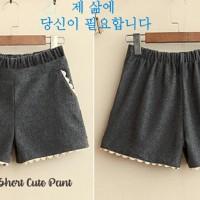 Shizuka Cute pants bebytery+ aplikasi renda cute seperti di gambar