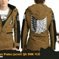 Jaket Anime Attack On Titan Parka Canvas Jacket Hoodie (JA SNK 43)