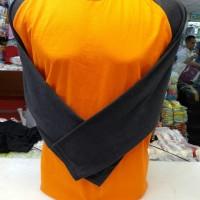 Kaos Raglan Polos Unisex | Orange Abu Panjang