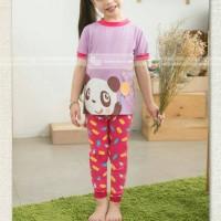 pakaian anak perempuan / 96h baju setelan kaos piyama