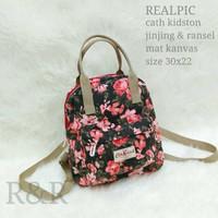 tas ck cath kidston ori import floral flower backpack 2in1 mini kids