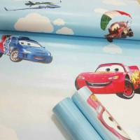 wallpaper sticker roll kamar anak cars cartoon