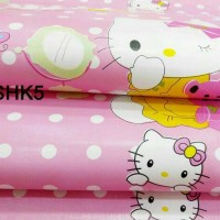 Wallpaper sticker roll hello kitty pink kamar anak