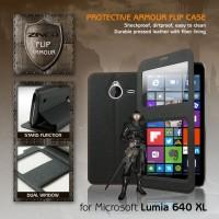 Flipcover Leather View Flip Case Casing Microsoft Lumia 640 XL 640XL