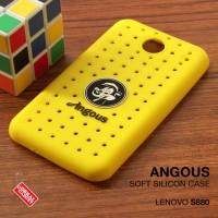 Softcase Silikon New Angous Perforated Soft Case Casing Lenovo S880