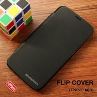 Flipcover Slim Leather Book Dompet Slot Flip Case Casing Lenovo A850
