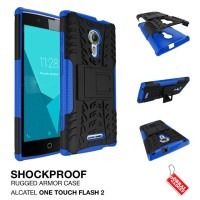 Heavy Shockproof Armor Hard Soft Case Casing Alcatel One Touch Flash 2