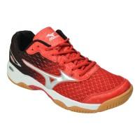 harga Sepatu Running Sport Mizuno Wave Rider VB19 Merah Hitam Tokopedia.com