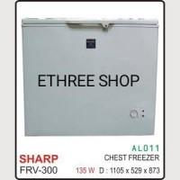 SHARP CHEST FREEZER FRV-300/ LEMARI PEMBEKU/ MURAH