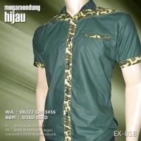 BATIK KOMBINASI HIJAU EX-018 | Batik Seragam | Batik Anak Muda