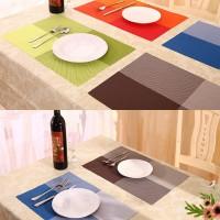 Alas Makan / Alas Piring / Table Mat PVC Motif Kotak Warna Cantik
