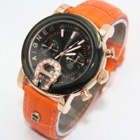 Jam Tangan Wanita / Jual Jam Tangan Aigner Bari SKY-02 Leather Orange