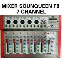 MIXER SOUNDQUEEN F8 7 channel professional Mixer audio sound system