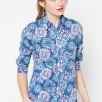 harga kemeja bunga biru brand AKO Tokopedia.com