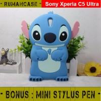 Sony Xperia C5 Ultra STITCH 3D Cute Case Karakter silicone Casing Lucu