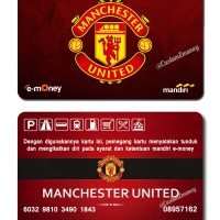 kartu mandiri etoll e-money e-toll 50rb manchester united mu card
