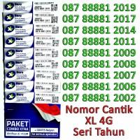 harga Kartu Perdana Nomor Cantik XL 4G Kuartet 8888 Seri Tahun 2000 Tokopedia.com